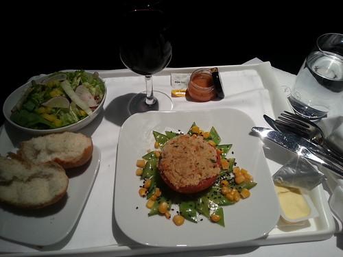 lufthansa business food