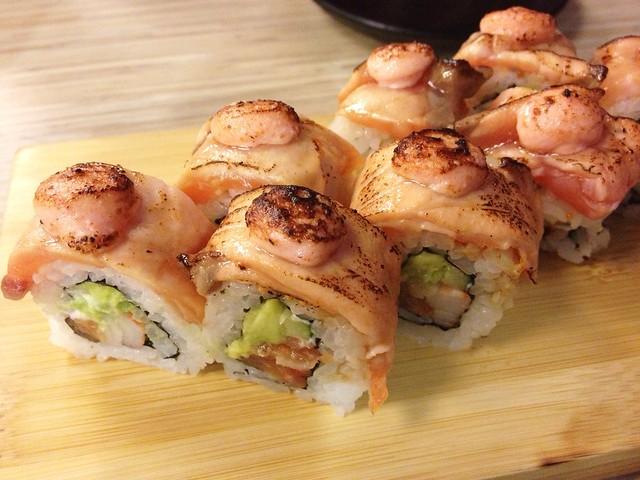 Salmon Aburi Roll, The Sushi Bar