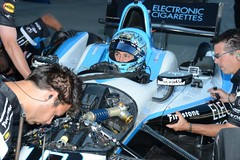 Graham Rahal in his car