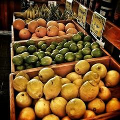The tropical section. #Fergulians #fruit #Hudson #MA #lemon #lime #orange #banana #home