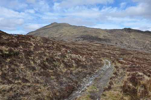 Path leading to the old mines in Coire an t-Suidhe (Corrantree)