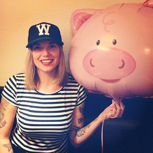 Önskade mig en gris i födelsedagspresent och fick det! Tack @waern & @thisishelena!