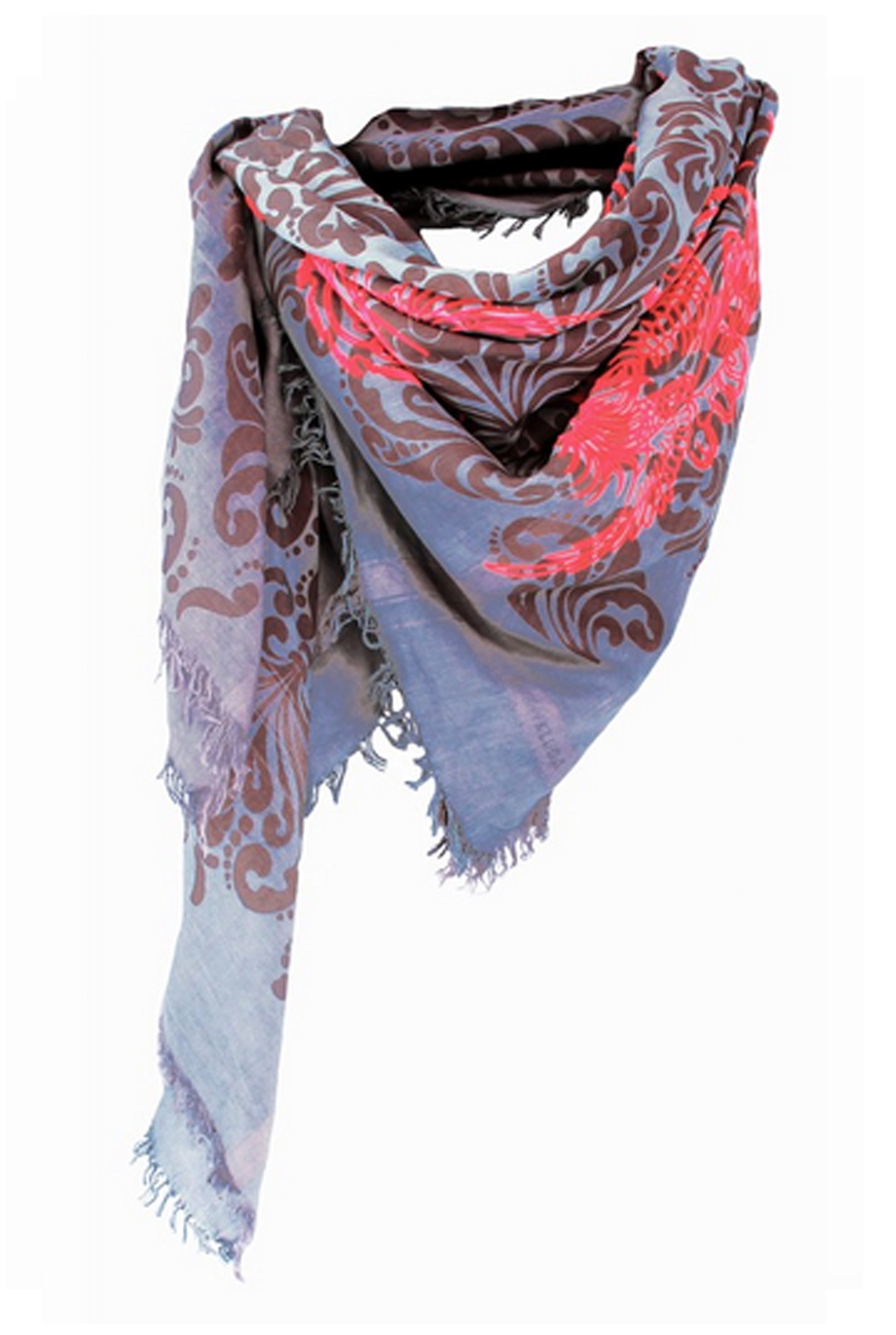 Dragon Bird Silk Mouse Square Scarf