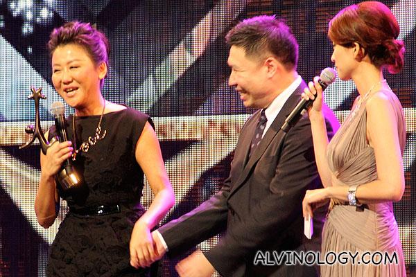 Pauline Lan on stage