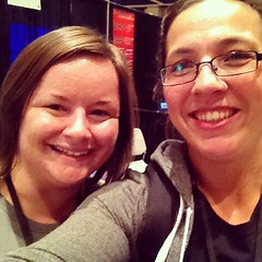 It's @stacycbusek and I #starwest