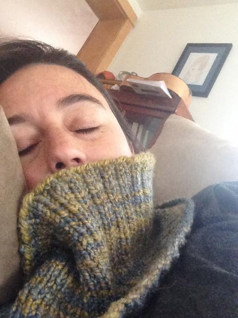 handspun cowl nap