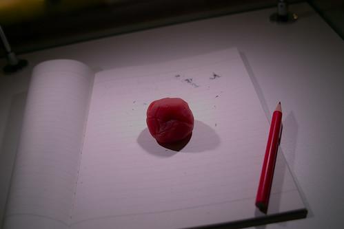 Plum eraser