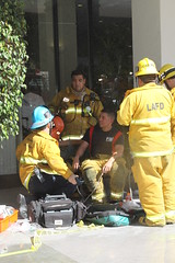 Brentwood High Rise Fire Sends Eight to Hospital © Photo by Steve Gentry. Click to view more...