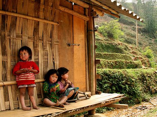 Grupo de niñas en Sapa