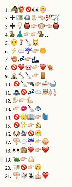 refranes con los emoticonos del whatsapp