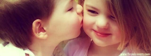 Cute Kiss Facebook Cover Photo