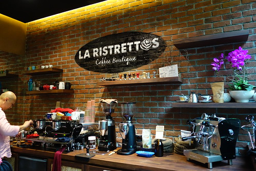 Barista's station at La Ristrettos