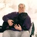 Jordon holding Elway by Wendy Cooper