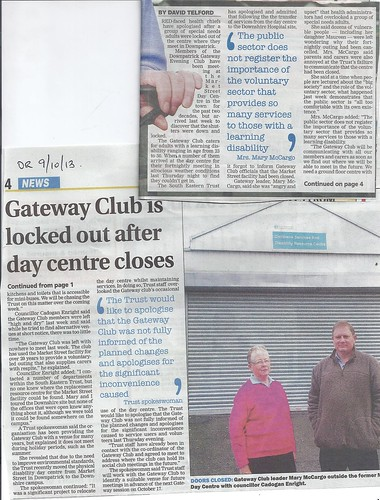 oct 9a 2013 Cadogan Enright seeks new home for Gateway club 'turfed out' by SE Trust