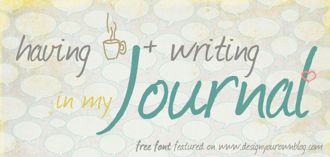 Journal - Free handwritten font from dafont