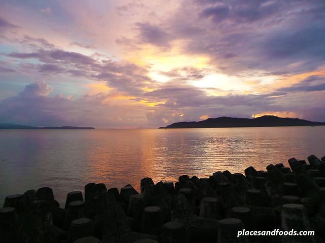 lang ka beach resort sunset