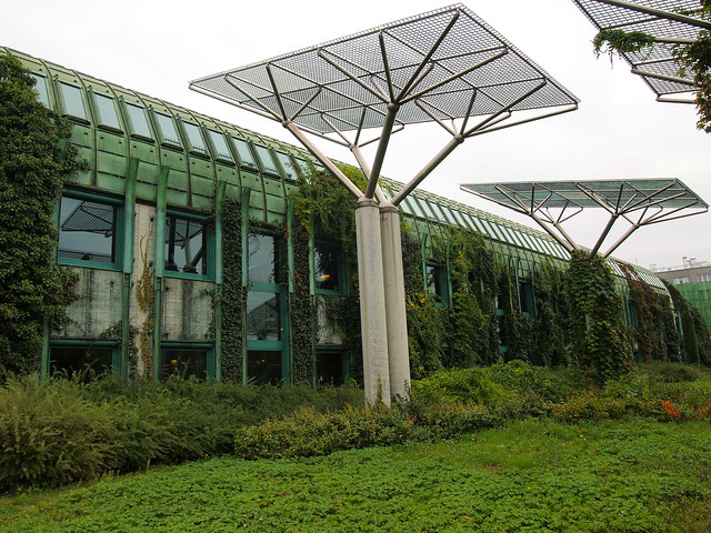 University of Warsaw library rooftop garden