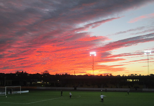 Red Sky Over Shielfield Park, Berwick 2
