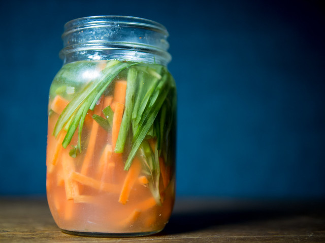 Fermented Green Onion and Carrots pickled carrot Onion green onion fermented pickles December Carrot