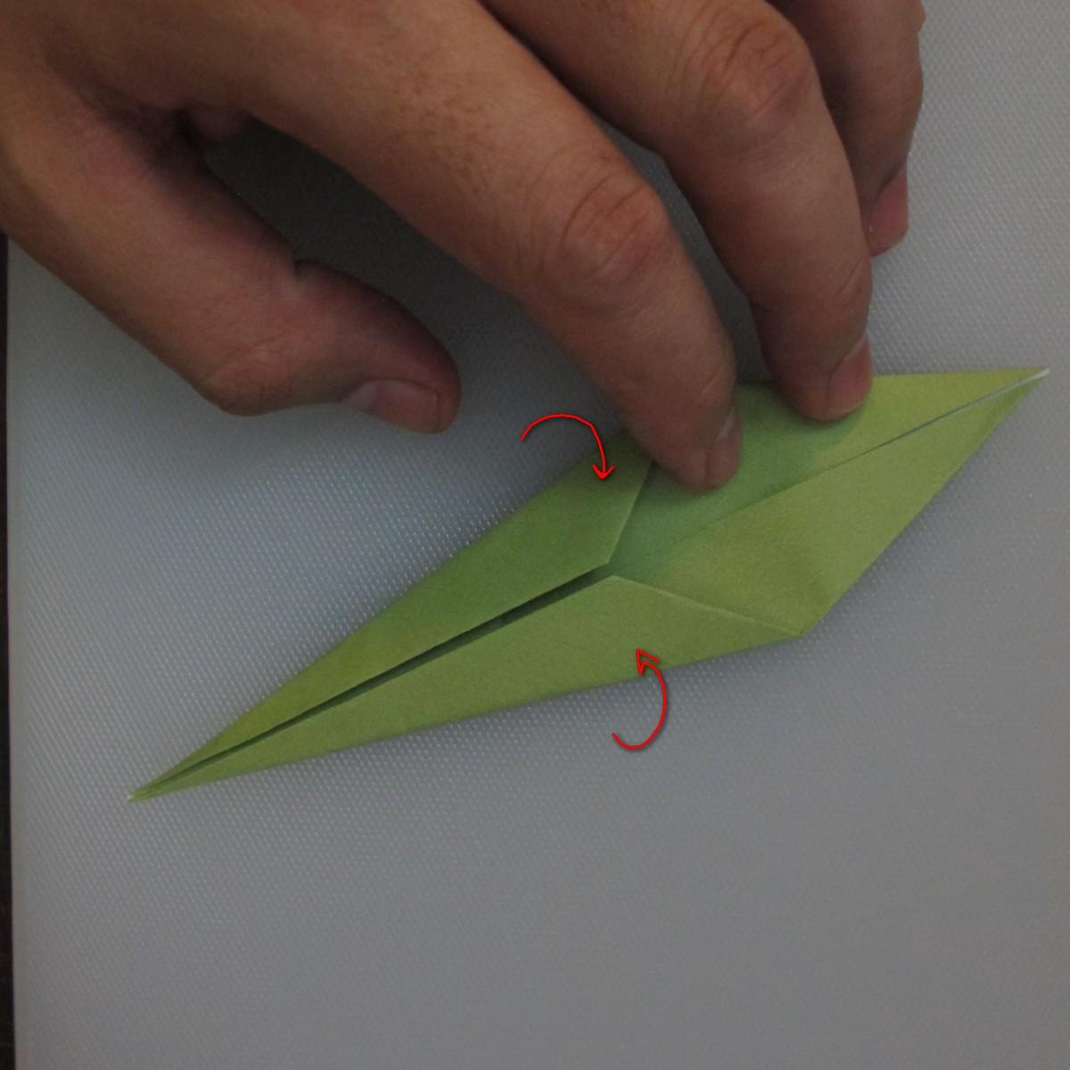 วิธีพับกระดาษเป็นดอกทิวลิป 023