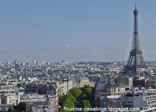 Arc de Triomphe - Blick Eiffelturm