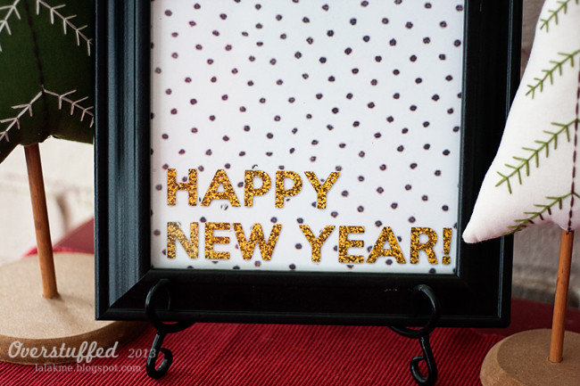 New Year free glitter printable