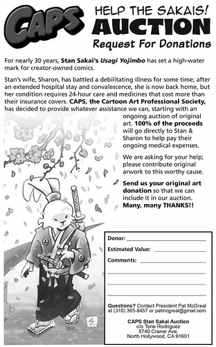 "CAPS :: USAGI YOJIMBO; ""HELP THE SAKAIS !"" Auction Donation Form (( 2013 ))"
