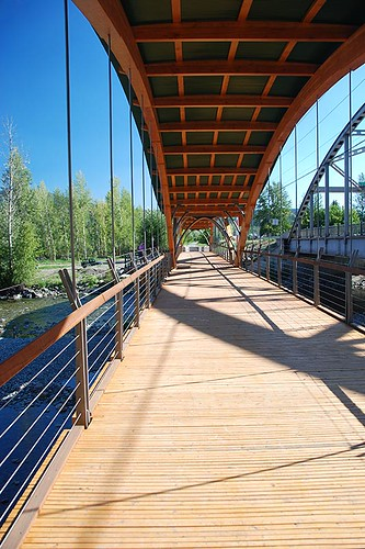 Trans-Canada Trail Bridge of Dreams over the Tulameen River, Princeton, British Columbia