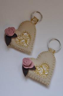 Seamstar No 10: Vintage Heart Keyrings