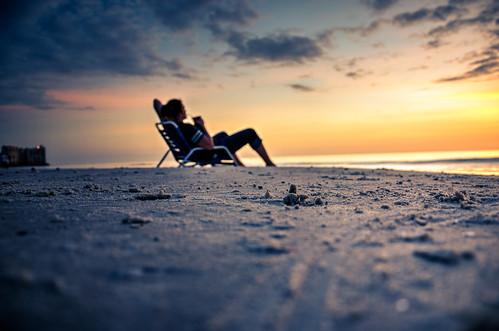 ocean winter sunset vacation sky beach water clouds sand chair waves florida dusk horizon tropical marcoisland