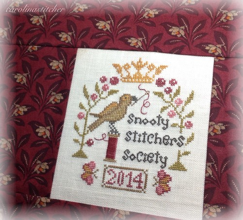 Snooty Stitchers Society project pouch