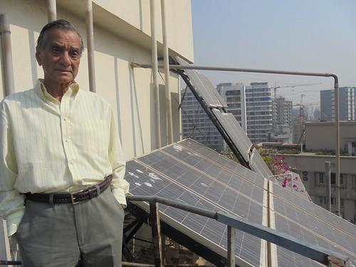 Solar panels on the terrace of Sea Line Co-op