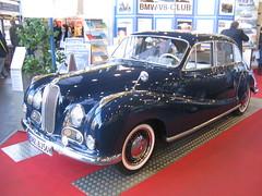 dkw 3=6(0.0), jaguar mark 1(0.0), mitsuoka viewt(0.0), compact car(0.0), automobile(1.0), vehicle(1.0), bmw 501(1.0), mid-size car(1.0), antique car(1.0), sedan(1.0), classic car(1.0), vintage car(1.0), land vehicle(1.0), luxury vehicle(1.0),