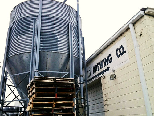 The silo at Legend Brewing
