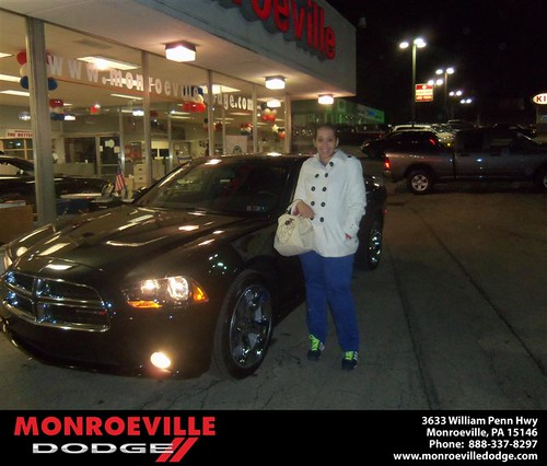 Happy Anniversary to Tamara N Hutcherson on your 2013 #Dodge #Charger from Chad Carpenter  and everyone at Monroeville Dodge! #Anniversary by Monroeville Dodge