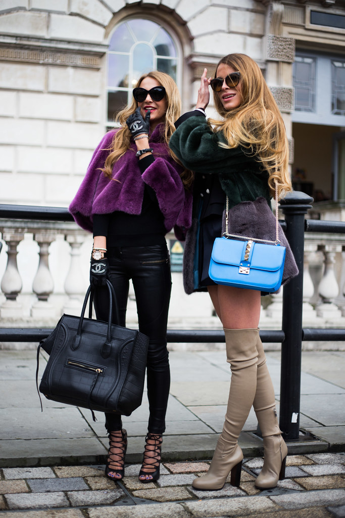 Street Style - Sophie Hermann & Victoria Baker-Harber, London Fashion Week