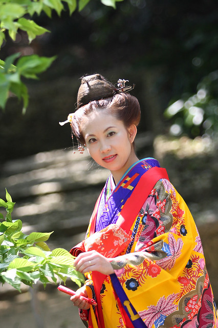 11.Bingata(red style)_representative and traditional dyeing technique in Okinawa