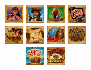 free Loose Cannon slot game symbols