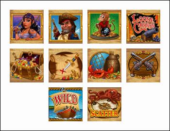 free Loose Cannon slot game symbols