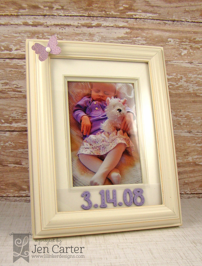 Jen Carter Stitched Alpha Baby Frame