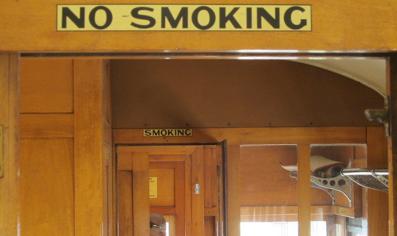 Smoking/No Smoking sections (Steamrail Open Day 2014)