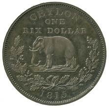 1815 Ceylon Rix dollar pattern