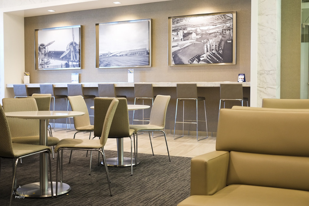 Dining area at the United Club