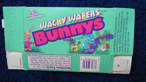 Wonka Wacky Wafers Bunnys box--1994-95