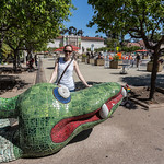 Emily and the snake, Balboa Park