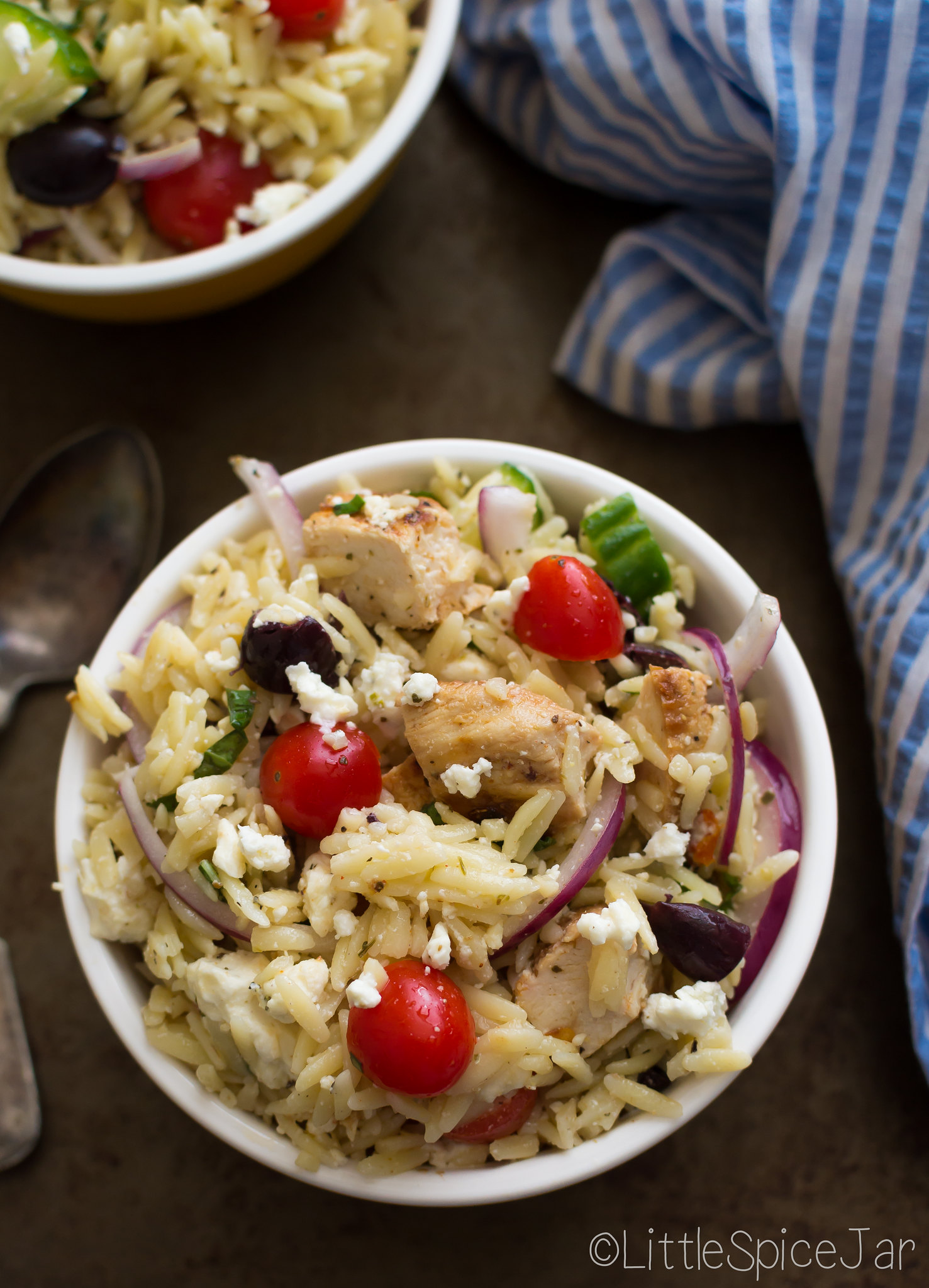 Greek Orzo Pasta Salad with Chicken 9