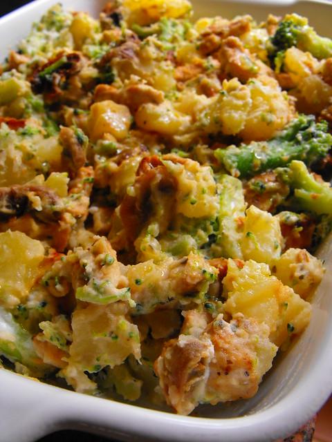 Salada de batata com perú