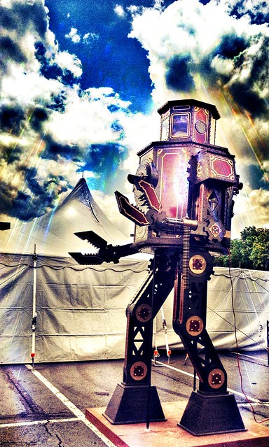 Robot at Steampunk World's Fair