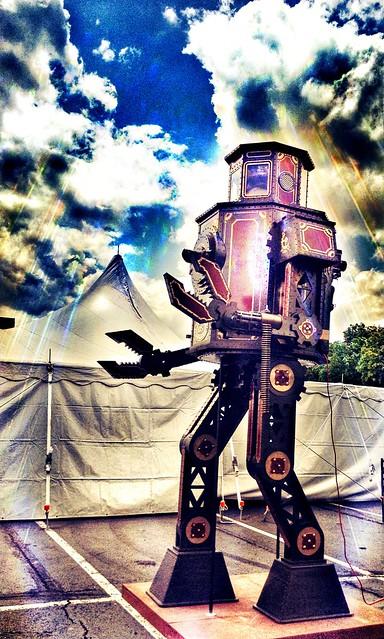 Robot at Steampunk World's Fair