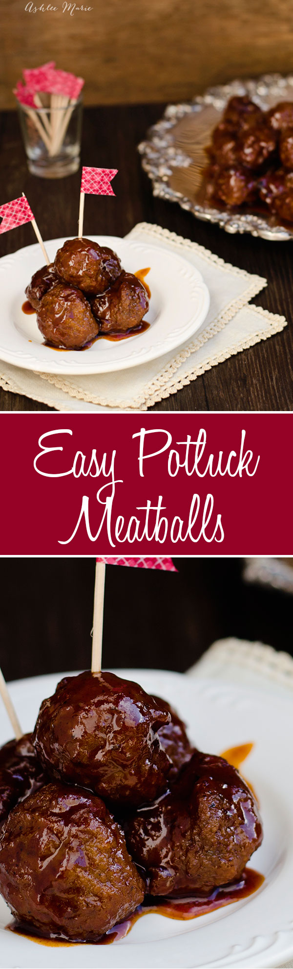 these 3 ingredient meatballs are perfect for parties and large crowds, my kids love them so much we make them all the time and serve them over rice